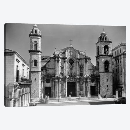 1930s-1940s Columbus Cathedral Built In 1777 Havana Cuba Canvas Print #VTG148} by Vintage Images Art Print