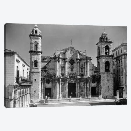 1930s-1940s Columbus Cathedral Built In 1777 Havana Cuba Canvas Print #VTG148} by Vintage Images Art Print
