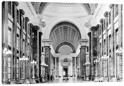 1930s-1940s Interior Main Hall Salon de Pasos Perdidos Of Capitol Building Havana Cuba Canvas Art Print