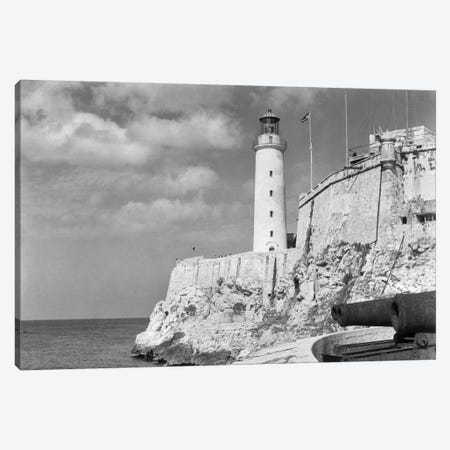 1930s-1940s Lighthouse At Morro Castle Havana Bay Havana Cuba Canvas Print #VTG157} by Vintage Images Canvas Print