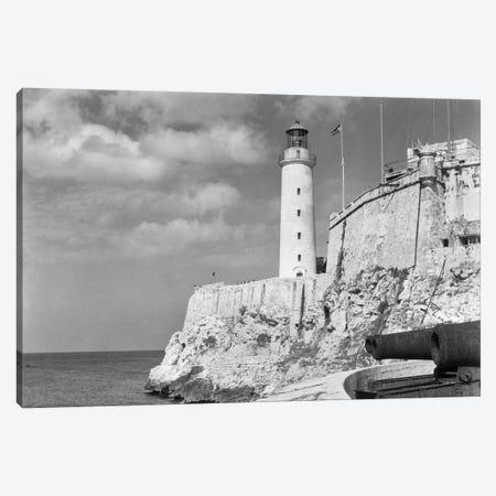 1930s-1940s Lighthouse At Morro Castle Havana Bay Havana Cuba Canvas Print #VTG157} by Vintage Images Canvas Print