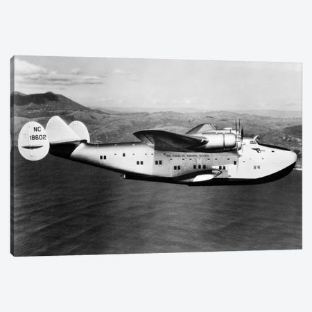 1930s-1940s Pan American Clipper Flying Boat Airplane In Flight Canvas Print #VTG161} by Vintage Images Canvas Art Print