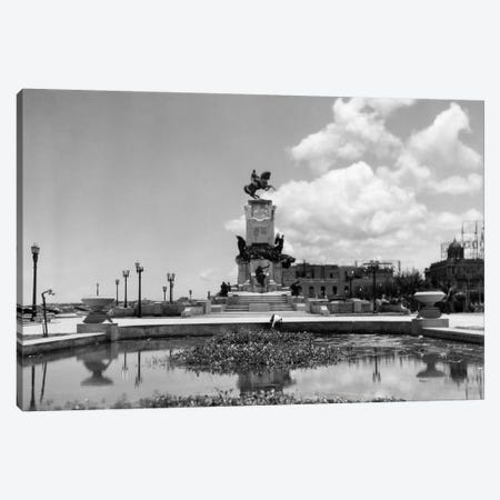 1930s-1940s Pond By Monument To General Maceo Havana Cuba Canvas Print #VTG163} by Vintage Images Canvas Print