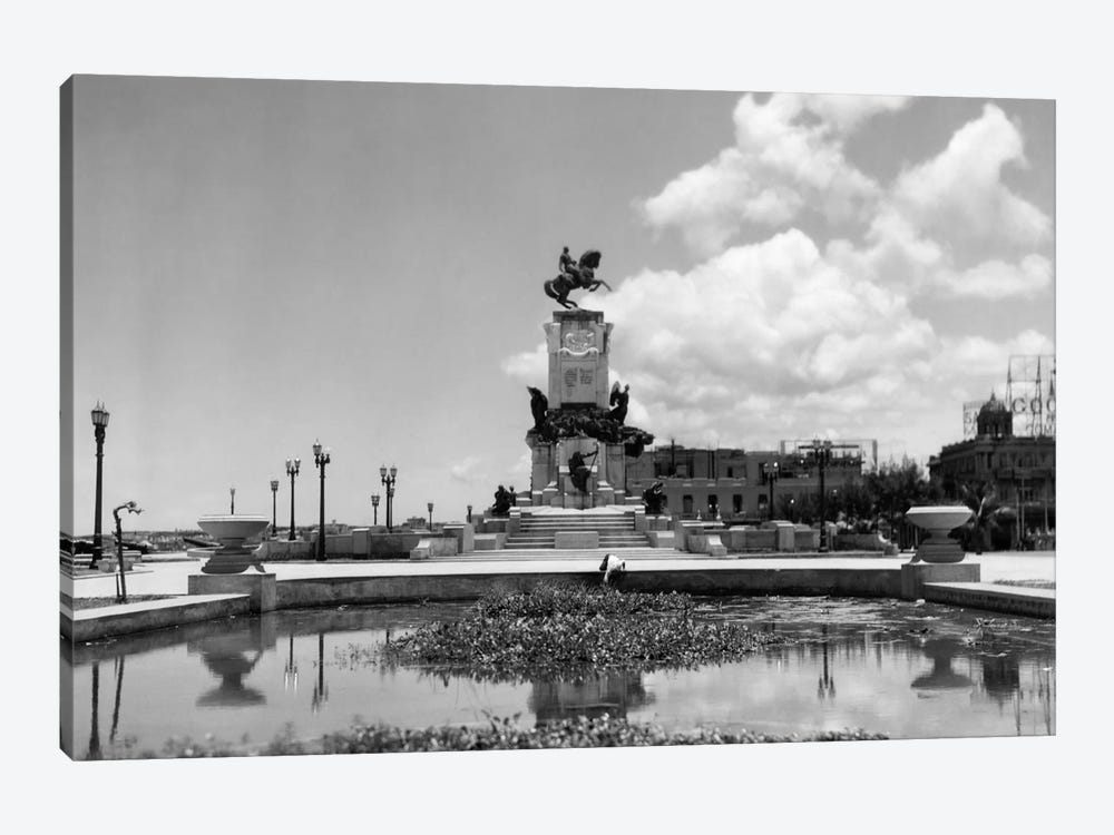 1930s-1940s Pond By Monument To General Maceo Havana Cuba by Vintage Images 1-piece Canvas Artwork