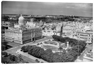 1930s-1940s Presidential Palace Seen From Sevilla Hotel Havana Cuba Canvas Art Print