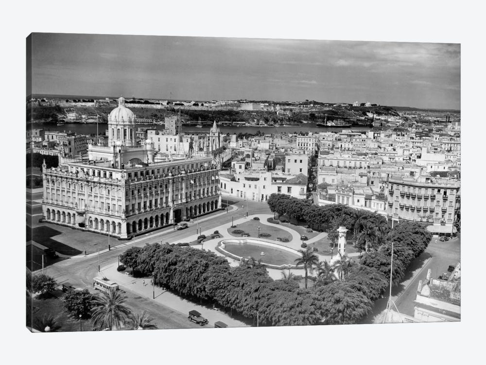 1930s-1940s Presidential Palace Seen From Sevilla Hotel Havana Cuba by Vintage Images 1-piece Canvas Art Print