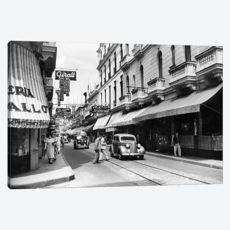 1930s-1940s Shopping Area San Rafael Avenue Havana Cuba Canvas Print #VTG168} by Vintage Images Canvas Print