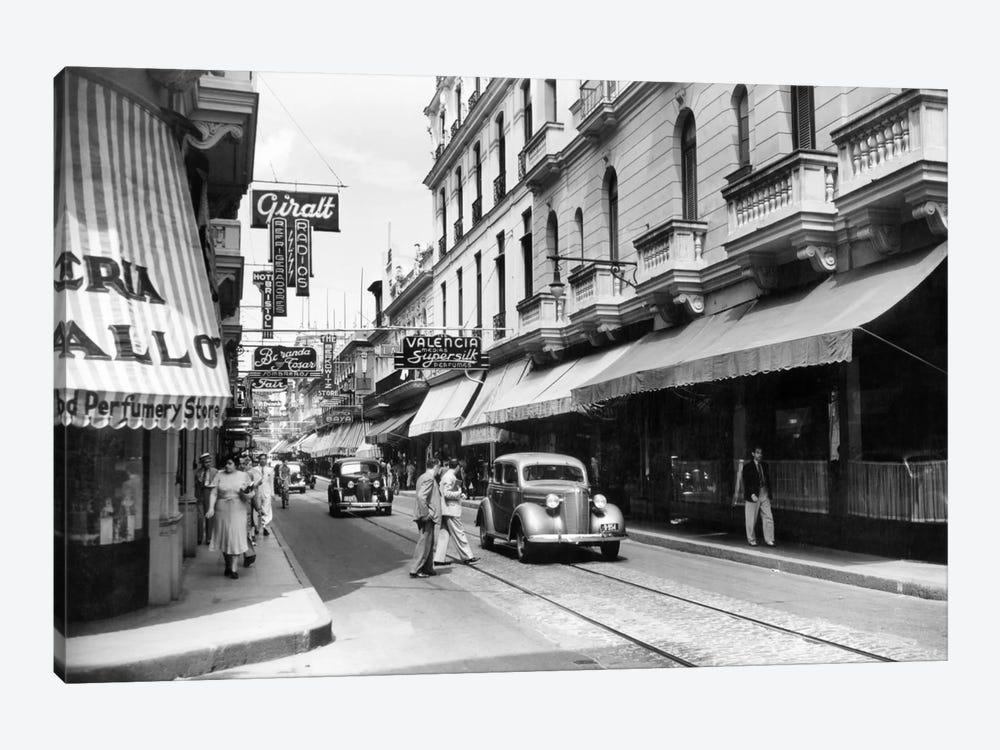1930s-1940s Shopping Area San Rafael Avenue Havana Cuba by Vintage Images 1-piece Canvas Art Print