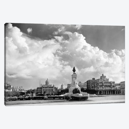 1930s-1940s Skyline Of Monument To Maxima Gomez In Center Dramatic Sky Clouds Havana Cuba Canvas Print #VTG169} by Vintage Images Canvas Art Print