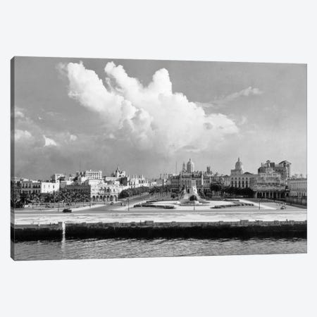 1930s-1940s Skyline View From The Bay Of Havana Cuba Canvas Print #VTG170} by Vintage Images Canvas Artwork