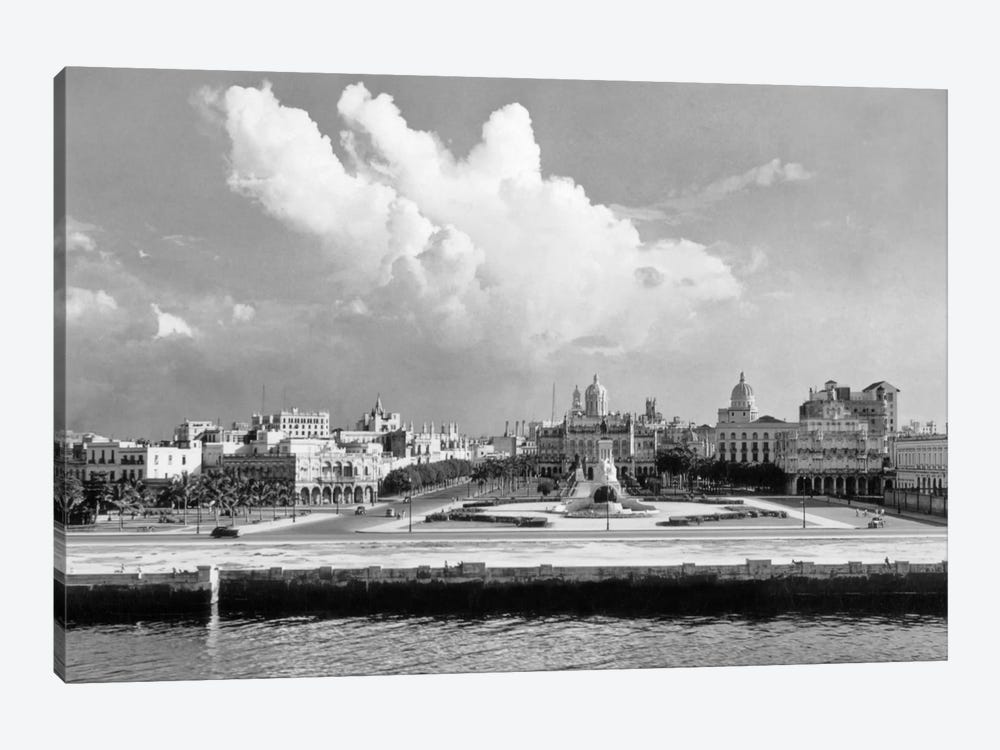 1930s-1940s Skyline View From The Bay Of Havana Cuba by Vintage Images 1-piece Canvas Wall Art