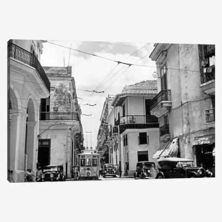 1930s-1940s Street Scene Cars Trolley Havana Cuba Canvas Print #VTG171} by Vintage Images Canvas Artwork