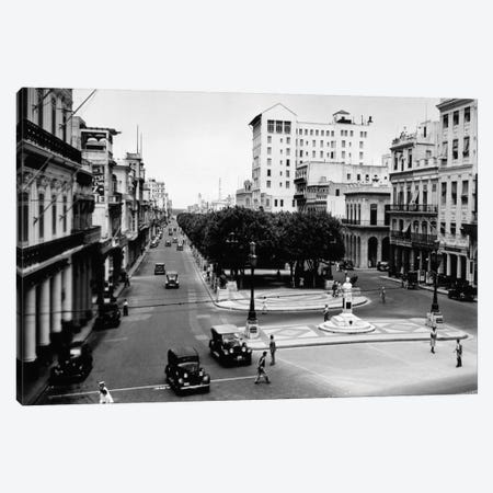 1930s-1940s Street Scene Of The Prado Havana Cuba Canvas Print #VTG172} by Vintage Images Canvas Wall Art
