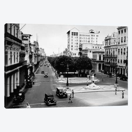 1930s-1940s Street Scene Of The Prado Havana Cuba Canvas Print #VTG172} by Vintage Images Canvas Wall Art