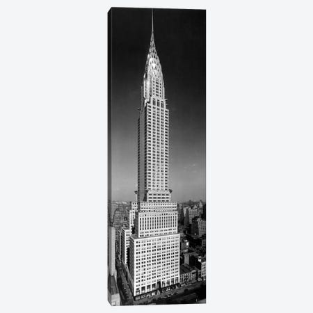 1930s-1940s Tall Narrow Vertical View Of Art Deco Style Chrysler Building Lexington Ave 42nd Street Manhattan New York City USA Canvas Print #VTG175} by Vintage Images Canvas Print