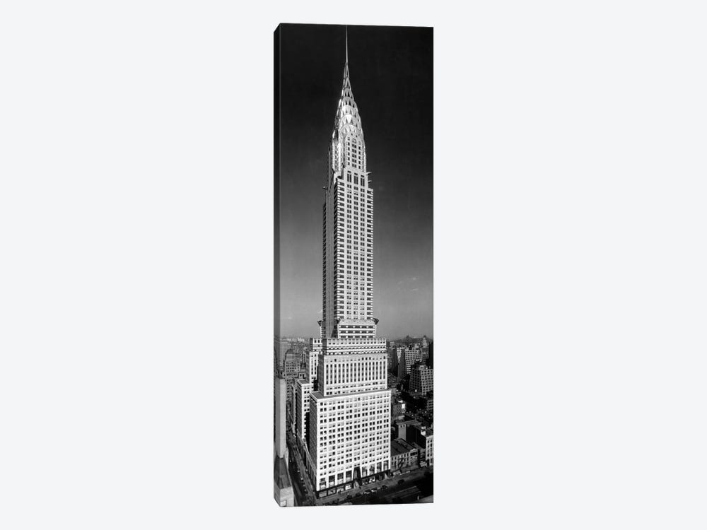 1930s-1940s Tall Narrow Vertical View Of Art Deco Style Chrysler Building Lexington Ave 42nd Street Manhattan New York City USA by Vintage Images 1-piece Canvas Art Print
