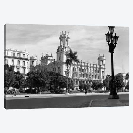 1930s-1940s The Asturian Club Now A Fine Art Museum Havana Cuba 3-Piece Canvas #VTG176} by Vintage Images Canvas Art Print