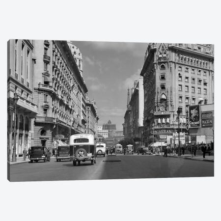 1930s-1940s The Diagonal Norte Or The Avenida Roque Saenz Pena Buenos Aires Argentina Canvas Print #VTG178} by Vintage Images Canvas Artwork