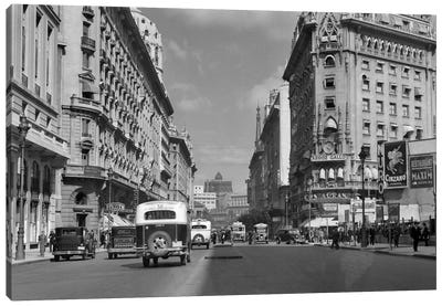 1930s-1940s The Diagonal Norte Or The Avenida Roque Saenz Pena Buenos Aires Argentina Canvas Art Print