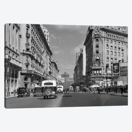 1930s-1940s The Diagonal Norte Or The Avenida Roque Saenz Pena Buenos Aires Argentina Canvas Print #VTG178} by Vintage Images Canvas Artwork