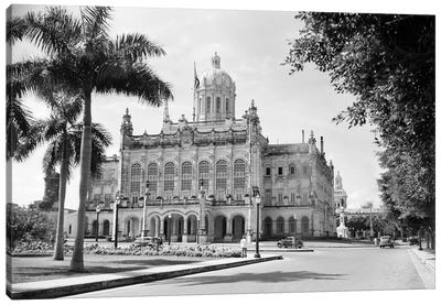 1930s-1940s The Presidential Palace Havana Cuba Canvas Art Print
