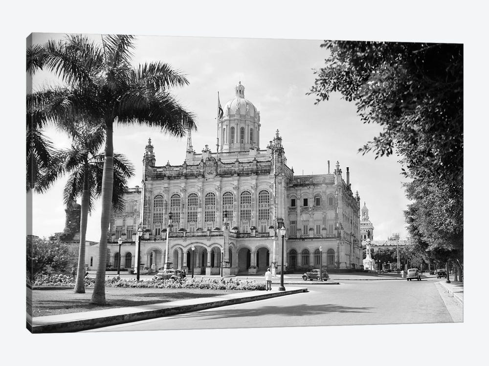 1930s-1940s The Presidential Palace Havana Cuba by Vintage Images 1-piece Canvas Wall Art
