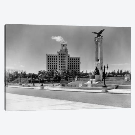 1930s-1940s Uss Maine Monument And National Hotel Havana Cuba Canvas Print #VTG184} by Vintage Images Canvas Art