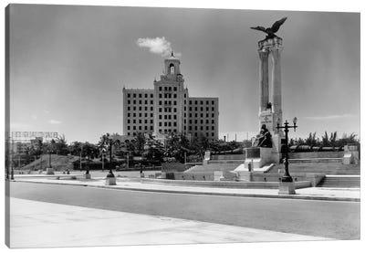 1930s-1940s Uss Maine Monument And National Hotel Havana Cuba Canvas Art Print
