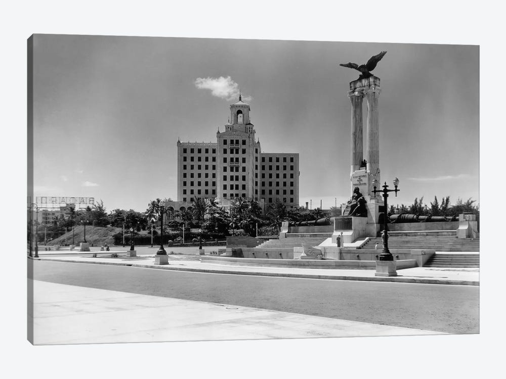 1930s-1940s Uss Maine Monument And National Hotel Havana Cuba by Vintage Images 1-piece Canvas Print
