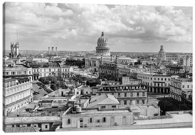 1930s-1940s View From Sevilla Hotel Of Capitol Building Skyline Of Havana Cuba Canvas Art Print