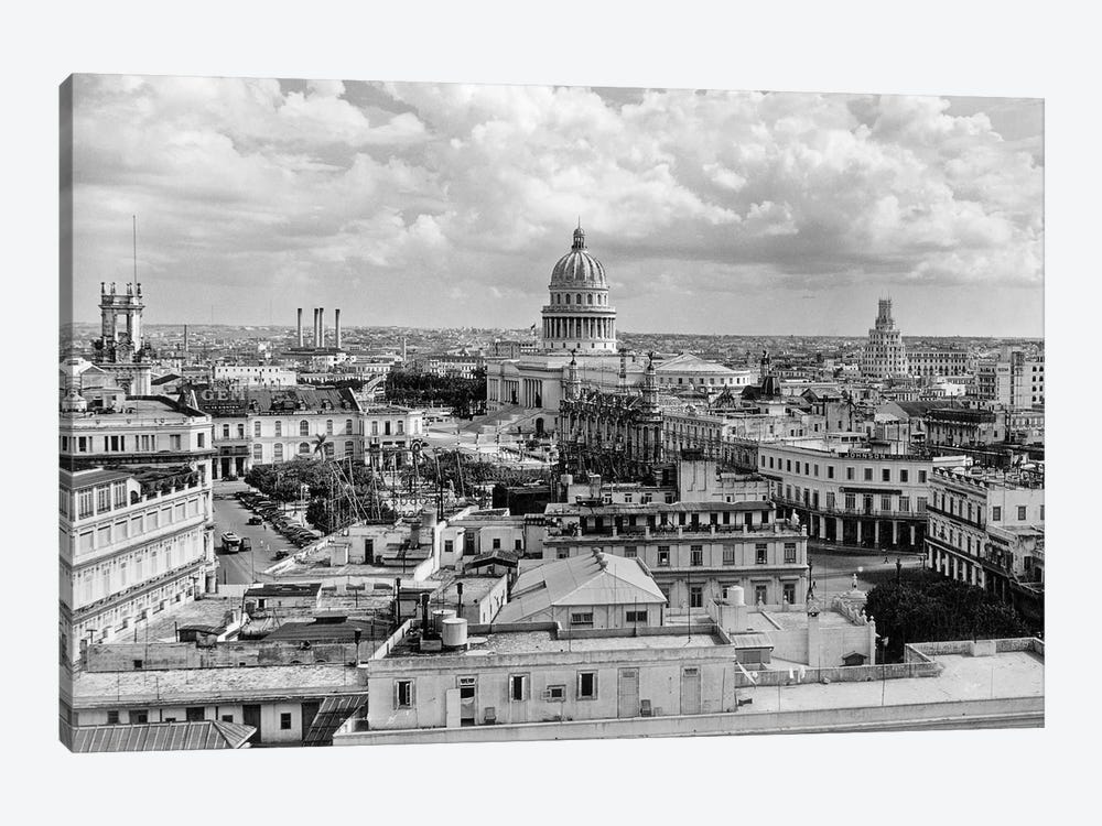 1930s-1940s View From Sevilla Hotel Of Capitol Building Skyline Of Havana Cuba by Vintage Images 1-piece Canvas Print