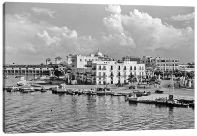 1930s-1940s View From The Bay Havana Cuba Canvas Art Print
