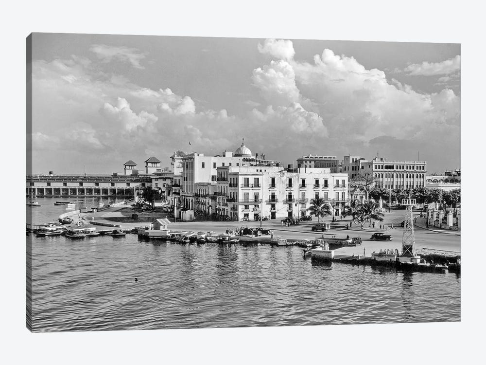 1930s-1940s View From The Bay Havana Cuba by Vintage Images 1-piece Canvas Art