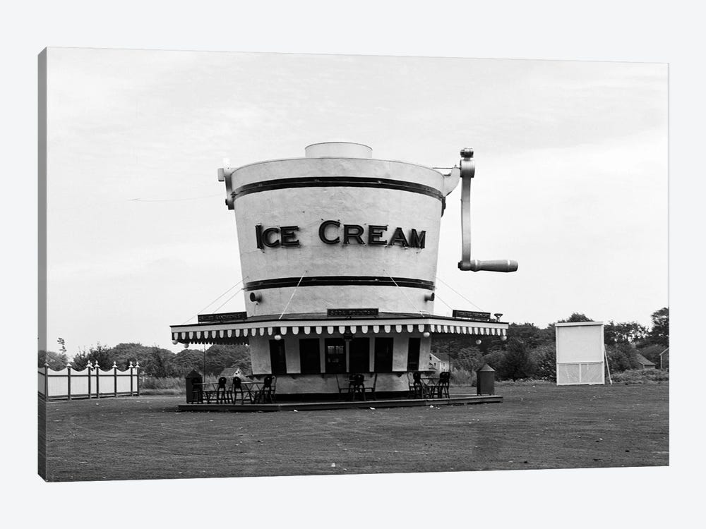 1937 Roadside Refreshment Stand Shaped Like Ice Cream Maker by Vintage Images 1-piece Canvas Artwork