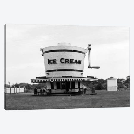 1937 Roadside Refreshment Stand Shaped Like Ice Cream Maker Canvas Print #VTG194} by Vintage Images Canvas Print