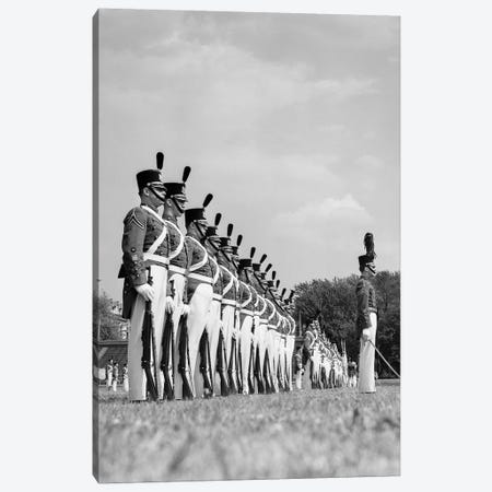 1940s A Row Of Uniformed Military College Cadets At Dress Parade Chester Pennsylvania Canvas Print #VTG197} by Vintage Images Canvas Art Print