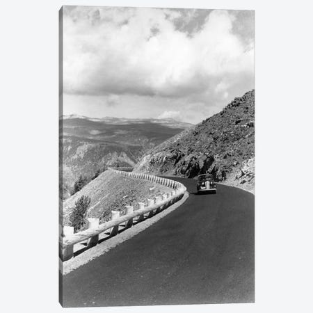1940s Automobile On Hillside Road Near Yellowstone National Park 11000 Feet Elevation Red Lodge Cooke City Montana USA Canvas Print #VTG202} by Vintage Images Canvas Art
