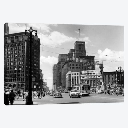 1940s Cadillac Square Detroit Michigan USA Canvas Print #VTG206} by Vintage Images Canvas Print