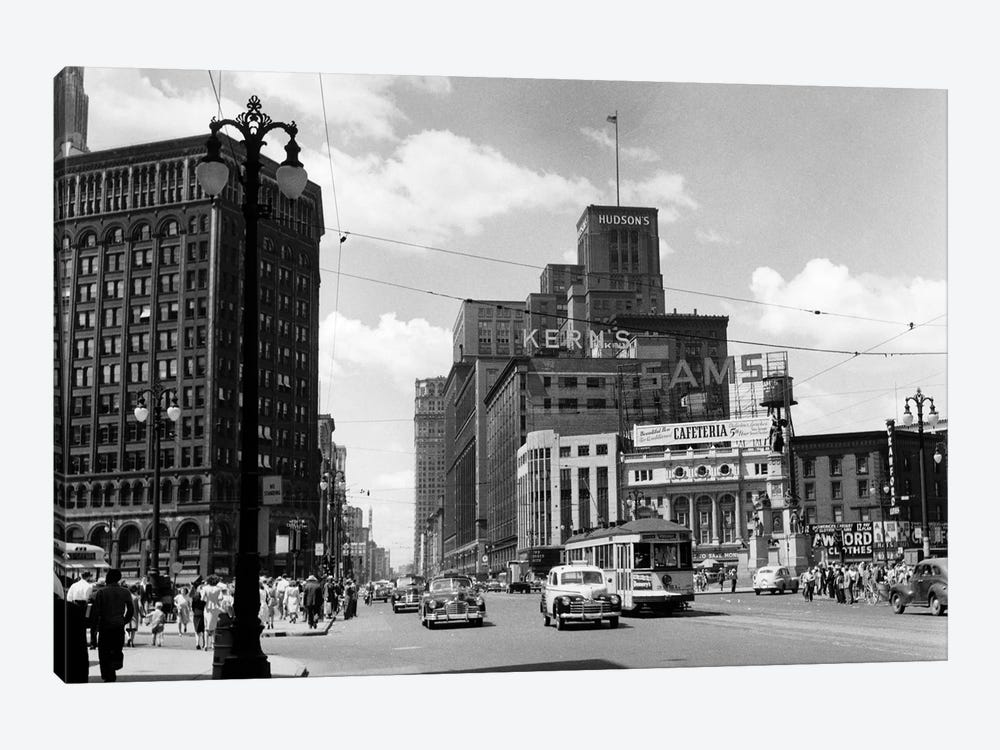 1940s Cadillac Square Detroit Michigan USA by Vintage Images 1-piece Art Print