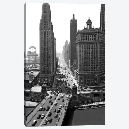 1940s Downtown Skyline Michigan Avenue Chicago Illinois USA Canvas Print #VTG210} by Vintage Images Art Print