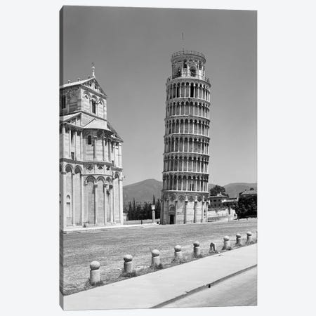 1940s Leaning Tower Pisa Tuscany Italy Canvas Print #VTG214} by Vintage Images Canvas Artwork