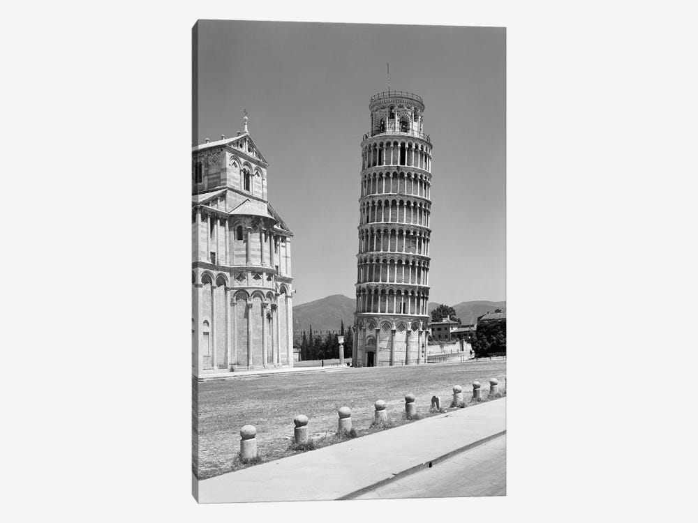 1940s Leaning Tower Pisa Tuscany Italy by Vintage Images 1-piece Canvas Wall Art