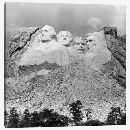 1940s Mount Rushmore South Dakota George Washington Theodore Roosevelt Abraham Lincoln Thomas Jefferson Canvas Print #VTG216} by Vintage Images Canvas Wall Art