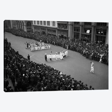 1910s Overhead View Of A Large Crowd Watching People Marching In A Suffrage Parade Circa 1914 Canvas Print #VTG21} by Vintage Images Canvas Wall Art