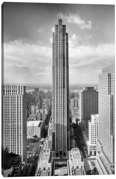 1940s Rockefeller Center RCA Building With Associated Press Building In Foreground New York City USA Canvas Art Print