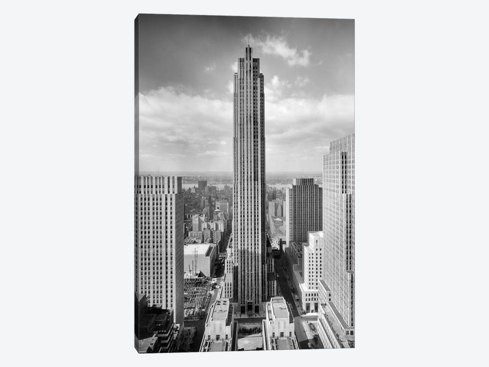 1940s Rockefeller Center RCA Building With Associated Press Building In Foreground New York City USA by Vintage Images 1-piece Canvas Art Print