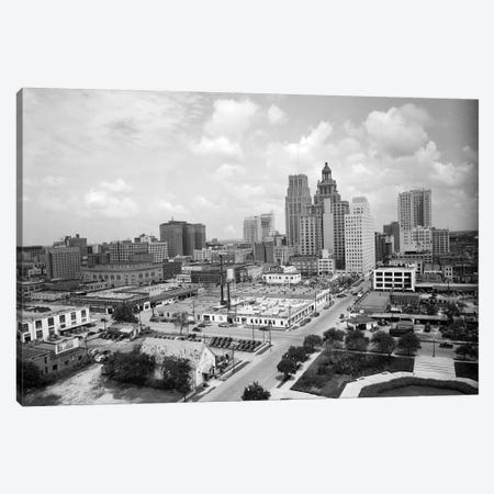 1940s Skyline Of Business District Of Houston Texas From City Hall Canvas Print #VTG223} by Vintage Images Canvas Art