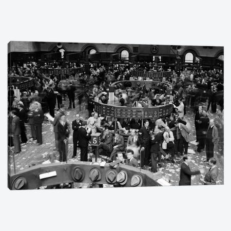 1940s Trading In Progress On Floor Of New York Stock Exchange NYC USA Canvas Print #VTG231} by Vintage Images Canvas Print