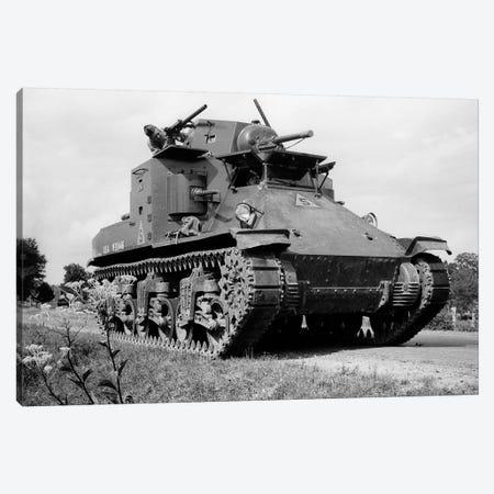 1940s World War Ii Era Us Army Tank One Unidentified Man Soldier Manning A Machine Gun Canvas Print #VTG236} by Vintage Images Canvas Artwork
