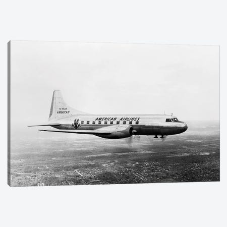1940s-1950s American Airlines Convair Flagship Propeller Aircraft In Flight Canvas Print #VTG244} by Vintage Images Canvas Art Print